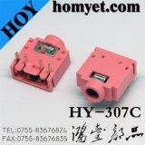 Pink Color AV Socket/Phone Jack (HY307C)