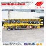 Container flatbed semi truck trailer