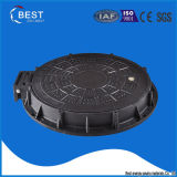 En124 C250 High Quality Ship Used Composite Rubber Hinged Manhole Cover Weight