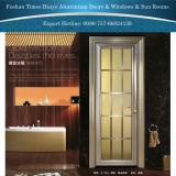 Champagne Color Bathroom Door Casement Door with Lattice
