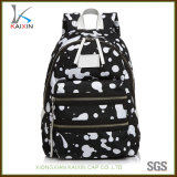 Custom Children Printing School Bag Laptop Backpack with Leather Patch