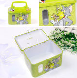 Metal Tin Money Box with Handle