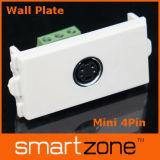 Audio Wall Plate, AV Face Plate (9.1119)