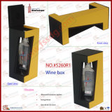 Luxury PU Leather Single Bottle Wine Stand (5260R1)