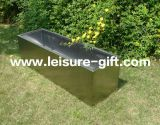Fo-9016 Stainless Steel Rectangular Flower Pot with Brushed Finish