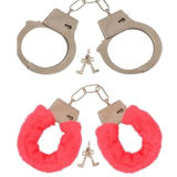 Fluffy Handcuffs, Made of Metal
