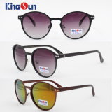 Polarized Round Copper Sunglasses Women Vintage Metal Female Sun Glasses Lady′s Shades Sunglases Ks1096