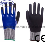 Anti-Cut 5 Nitrile Fully Coated, Sandy Outer, Safety Work Gloves