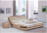 European King Size Modern Bedroom Leather Bed