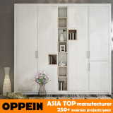 Modern Bedroom Furniture White Wooden Wholesale Wardrobe with Shelves (YG11322)