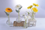 Artificial Sunflowers in Glass Vase for All Public Decoration