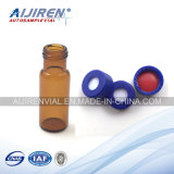 9-425 Amber Glass Vial with Manufacturing Blue Cap and Septa