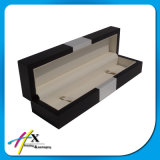 Long-Shaped Rectangle Wooden Single Watch Packaging Case with Leather Insert
