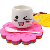 Home Decorations PVC Soft Silicone Mat Pad for Coffee Cup