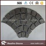 Fish Scale G684 Granite Cobblestone Paver Mat