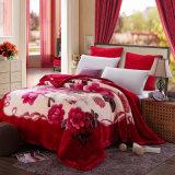 Double Thick Warm Winter Super Soft Plush Raschel Throw Blanket