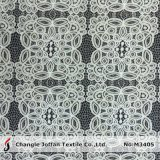 Cotton Geometric Big Pattern Raschel Lace Fabric (M3405)