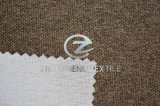 New Linen Look Velet with Fleece Bonded Knitted Fabric for Sofa and Shoes Use