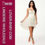 White Cocktail Mini Dress Girl Summer Dress (L51154)