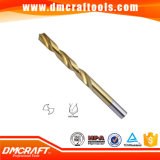 DIN338 HSS Twist Drill Bit Roll-Forged & Polished Tin Coated