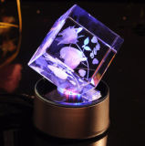 Design Customized Holiday Gift 3D Laser Engraved Crystal Roses
