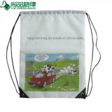 Durable Drawstring Backpack Shopping Bag with Cords Full Imprinting
