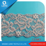 Nylon Spandex Tricot Fabric Lace / African Lace Materials