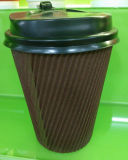 Disposable Coffee Cups, to Go Ripple Paper Cup with Lid