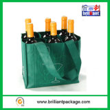 Six Bottom Non Woven Wine Bottle Bag with Stifener