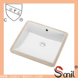 Hot Sale Square Ceramic Bathroom Washbasin (SN039)
