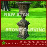 Green Granite Flower Pot Green Stone Planter with Square Base
