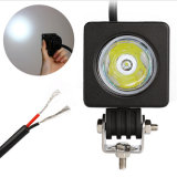 2 Inch 10W CREE LED Square Flood Spot Work Light 12V 800lm Waterproof for Bicycle Motorcycle Truck 4X4 Offroad