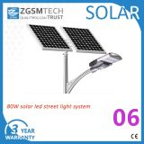 Zgsm Factory 8m Pole 80W LED Solar Lamp Outdoor 40W-120W