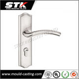 Zinc Handle on Door Plate (Deburing, Chrome Plated)
