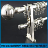 European Simple Style Stainless Steel Polished Treated Curtain Rod Curtain Pipe Set
