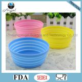 Non-Toxic Silicone Collapsible Pet Dog Food Bowl Foldable Water Bowl Feeder 350ml Sfb14