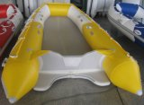 4.6m New Style Yellow&White Big Inflated Rowing Boat