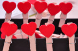 Oemn Newest Heart Shape Book Mark