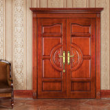 Oppein Double Leaf Luxurious Solid Wood Entrance Door (MSSS01)