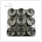 9PCS Condiment Holder Spice Jar Bottle Container Box Spice Organizer