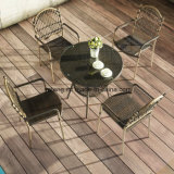 UV-Resistant Sythetic Cheaper Outdoor Poolside Garden Furniture Coffee Set with Stackable Chair & Table (YT833)