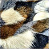 Jacquard Long Plush Multi-Colored Fabric Fur
