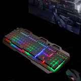 New Coming Game LED Keyboard with Aluminum Alloy Design (KB-906EL-C)