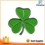 Ireland National Flower Custom Metal Shamrock Lapel Pin