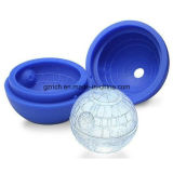 Silicone Blue Wars Death Star Round Ball Ice Cube Mold Tray