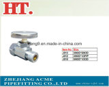90 Degree Chorme Plating Brass Angle Valve with Nut