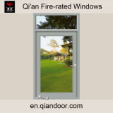 Side Hung Steel Fire Window with Fixed Pane