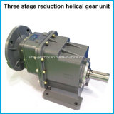 Flanged Motor Two-Staged Speed Reduction Helical Gearbox Reducer