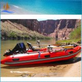 2017 New Red Inflatable Motor Boat