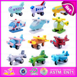 2015 Hot Sell Kids Wooden Toys Planes, New Design Child Wooden Flying Toy Plane, Christmas Gift Wooden Airplane/Helicopter W04A153
